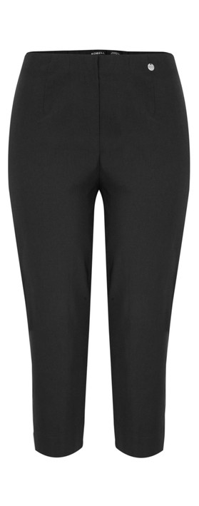 Robell Trousers Marie 07 Cropped Trouser Black