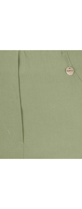 Robell Trousers Bella 7/8 Cropped Trouser  Olive