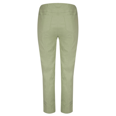 Robell Trousers Bella 7/8 Cropped Trouser  - Green