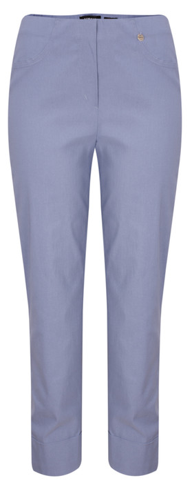 Robell Trousers Bella 7/8 Cropped Trouser  Steel Blue