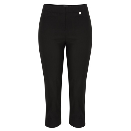 Robell Trousers Rose 07 Slimfit Cropped Trouser - Black