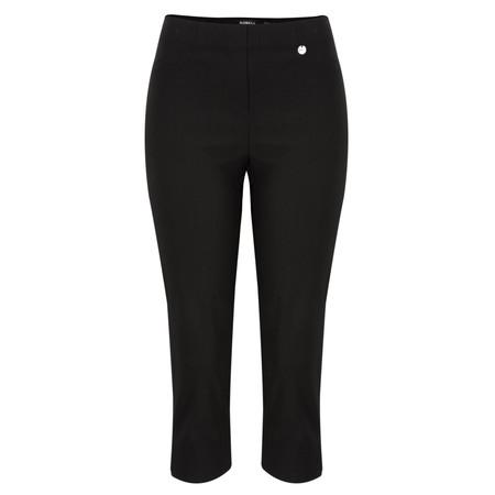 Robell Rose 07 Black Slimfit Cropped Trouser - Black