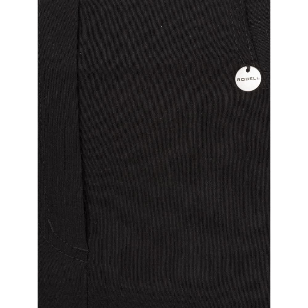 Robell Rose 07 Black Slimfit Cropped Trouser Black