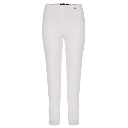 Robell Trousers Bella Slim Fit Full Length Jean - White