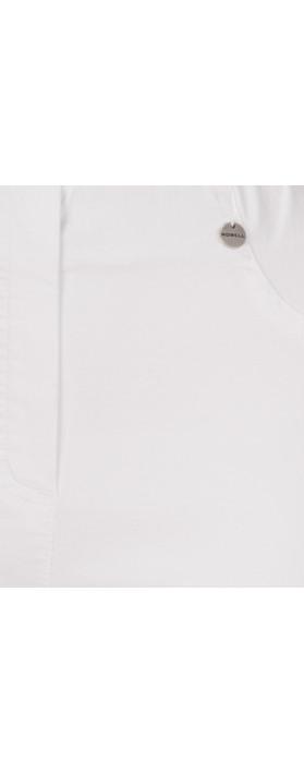 Robell Trousers Bella Slim Fit Full Length Jean White