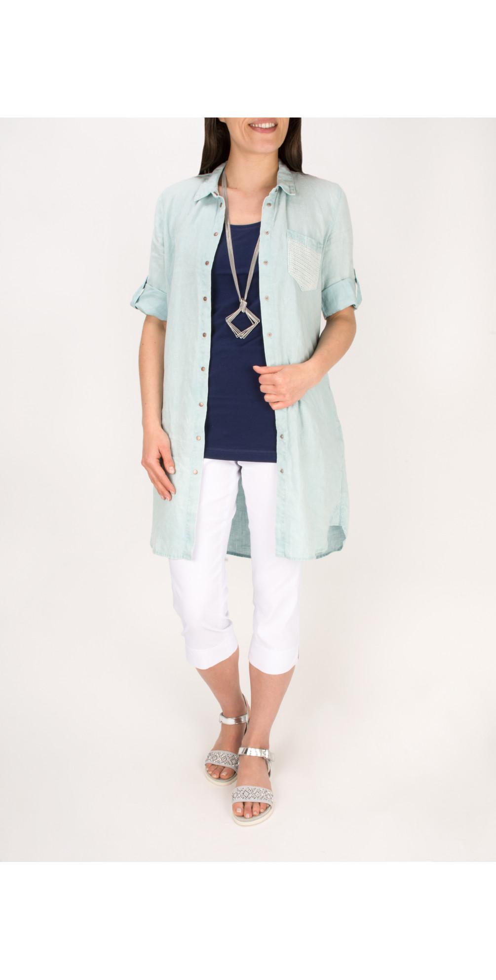 Relaxed Linen Shirt Dress main image
