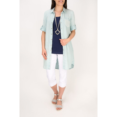 Sandwich Clothing Relaxed Linen Shirt Dress - Green