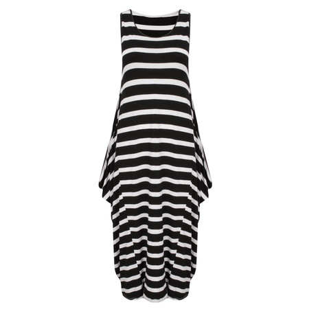 TOC  Drue Stripe Maxi Dress - Black