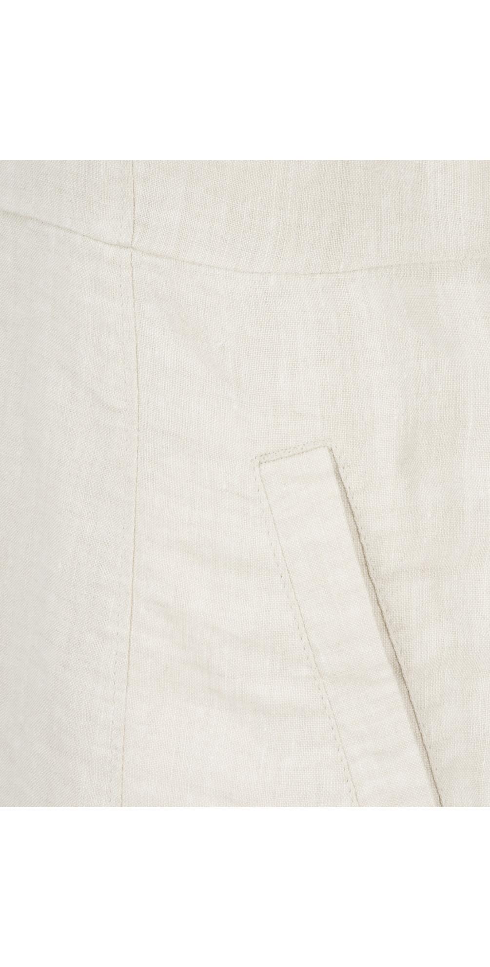 344cb72a Noa Noa Sleeveless Linen Dress Silver Gray. undefined