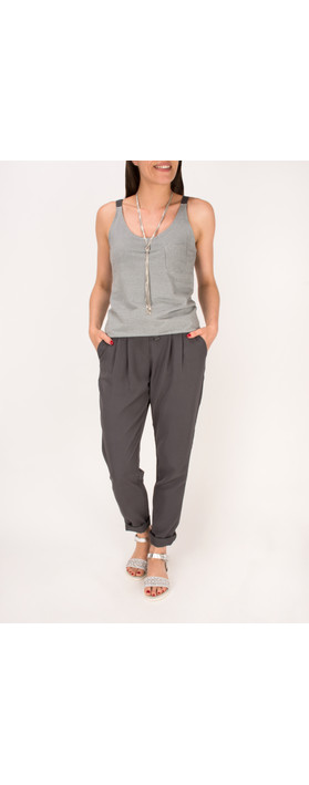 Sandwich Clothing Rayon Twill Casual Trouser Grey Magnet