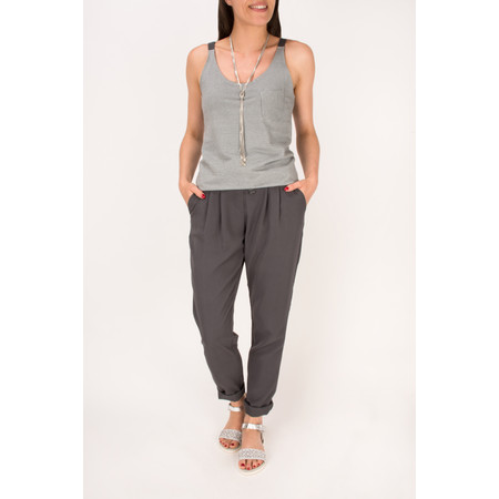 Sandwich Clothing Rayon Twill Casual Trouser - Grey
