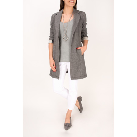 Sandwich Clothing French Terry Panelled Long Blazer - Grey