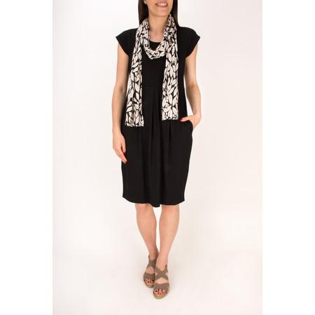 Masai Clothing Along Leaf Print Scarf - Black