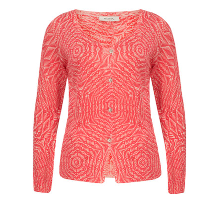 Sandwich Clothing Morrocan Print Cardigan - Pink