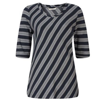 Sandwich Clothing Striped Viscose Jersey Top - Blue