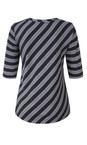Sandwich Clothing Blue Nights Striped Viscose Jersey Top