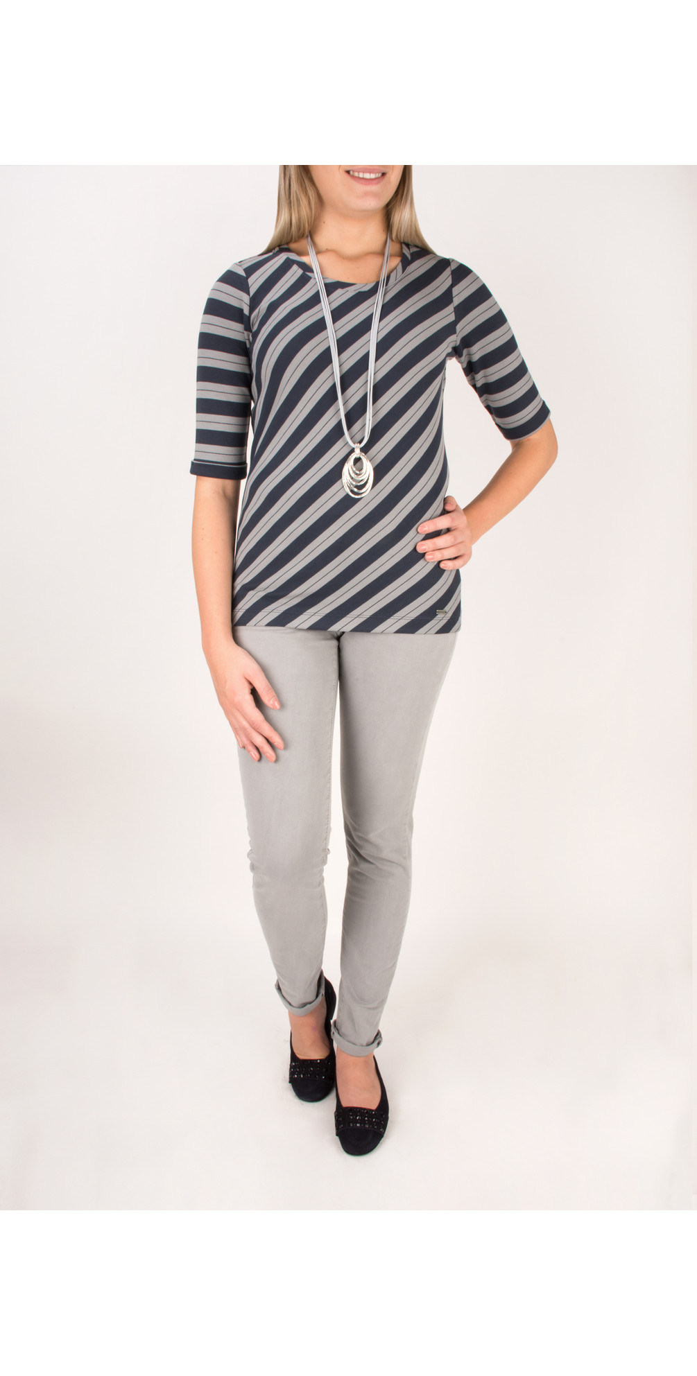 Striped Viscose Jersey Top main image