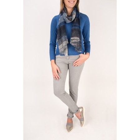 Sandwich Clothing Victoria Weave Scarf - Blue