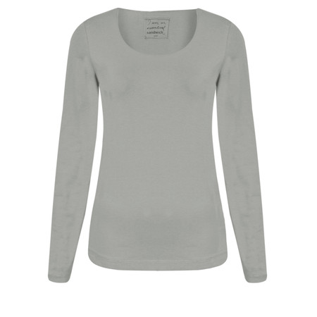 Sandwich Clothing Light Cotton Top - Grey