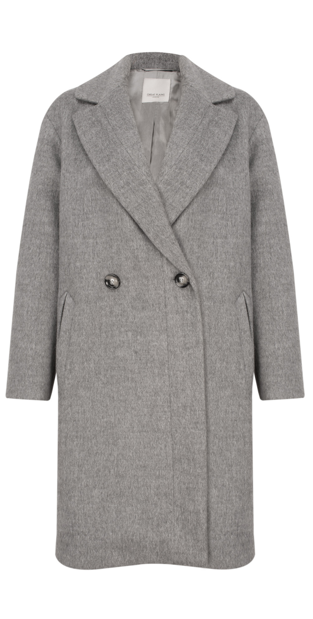 a076db9c641791 Great Plains Blenheim Wide Revere Collar Coat in Zinc Grey Mel