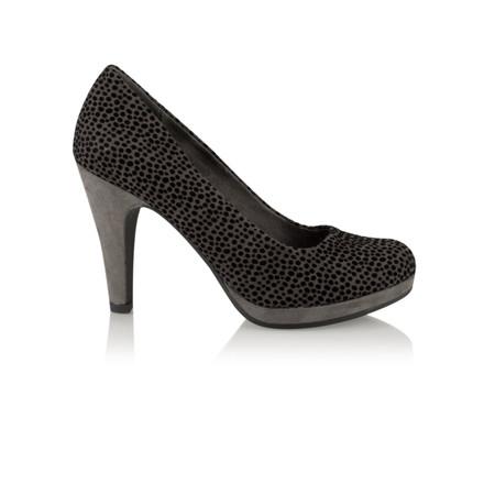 Marco Tozzi Leopardo Court Shoe - Blue