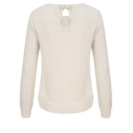 Great Plains Hardy Basics Neck Tie Jumper - White