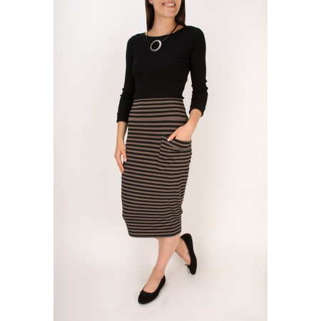 Masai Clothing Striped Sunny Skirt - Brown