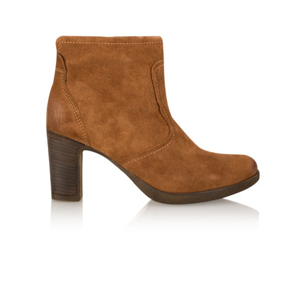 Tamaris  Leather Ankle Boot - Brown
