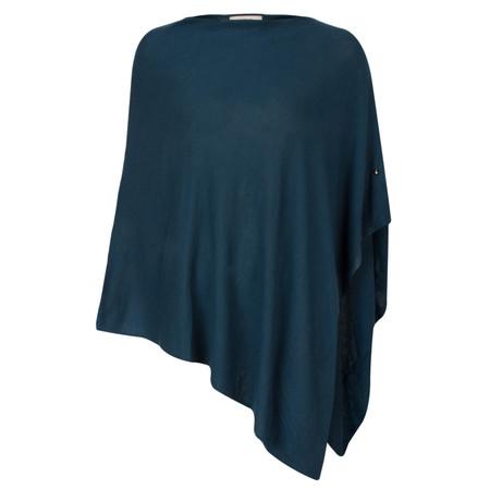 Sandwich Clothing Basic Soft Knit Poncho - Blue