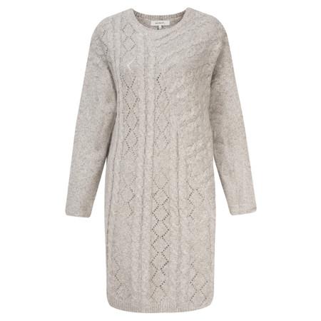 Sandwich Clothing Soft Cable Knit Dress - Beige