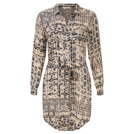 Sandwich Clothing Geometric Printed Tunic Dress - Beige