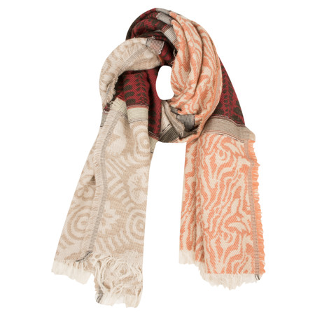 Sandwich Clothing Wool Mix Weave Scarf - Red