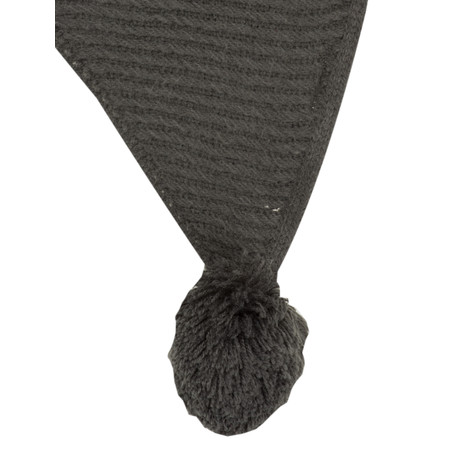 Sandwich Clothing Pompom Knit Scarf - Grey