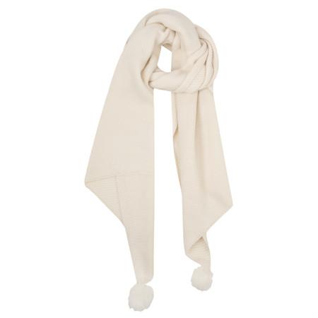 Sandwich Clothing Pompom Knit Scarf - Bronze