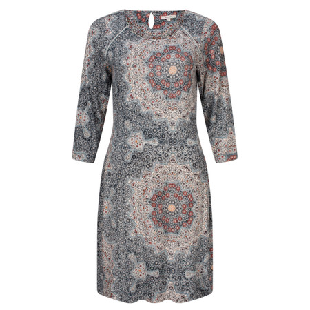 Sandwich Clothing Mosaic Printed Jersey Dress - Blue