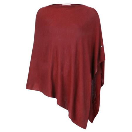 Sandwich Clothing Basic Soft Knit Poncho - Red