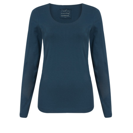 Sandwich Clothing Light Cotton Top - Blue