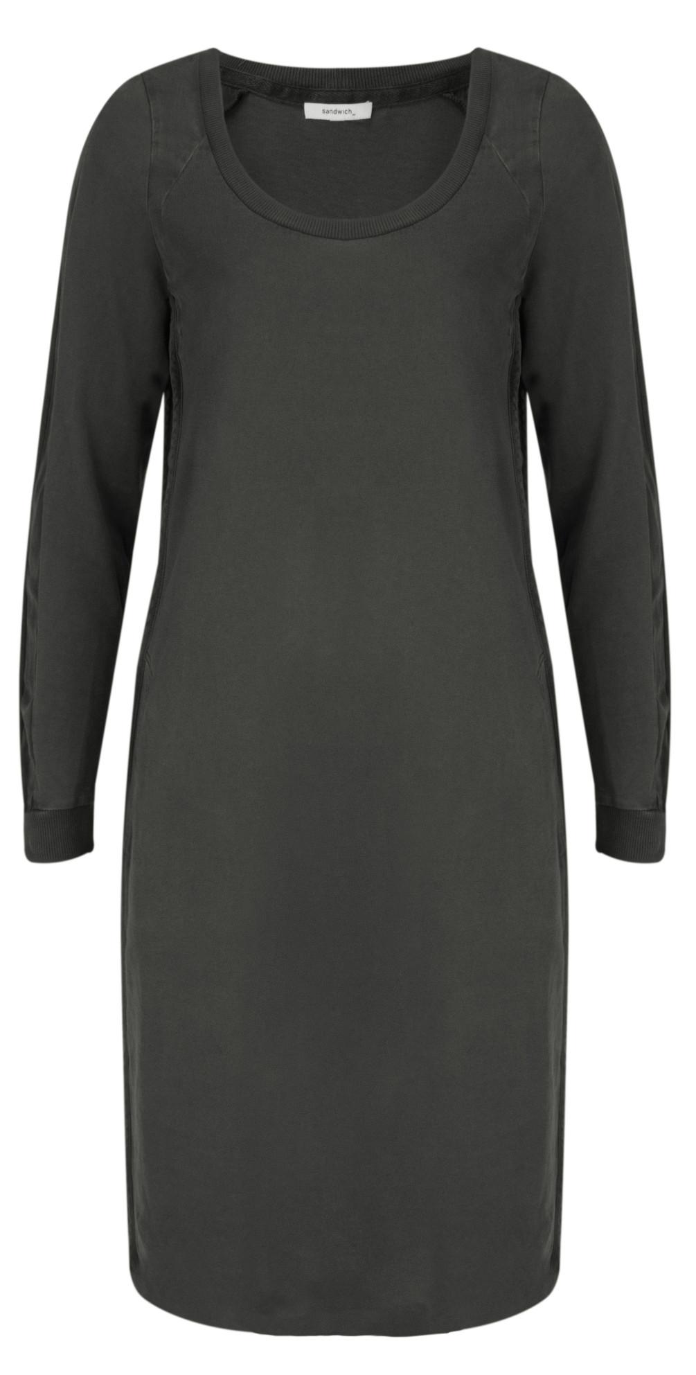 sandwich clothing single jersey dress in grey magnet. Black Bedroom Furniture Sets. Home Design Ideas