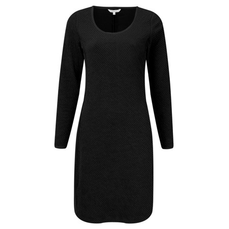 Sandwich Clothing Padded Look Jacquard Dress - Black