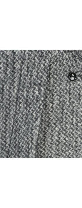 Sandwich Clothing Jacquard Fleece Skirt Grey Magnet