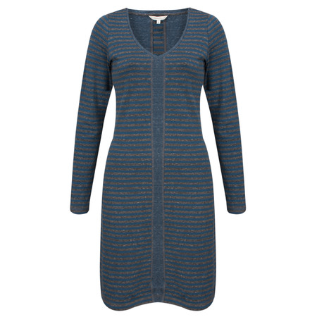 Sandwich Clothing Double Face Striped Jersey Dress - Blue