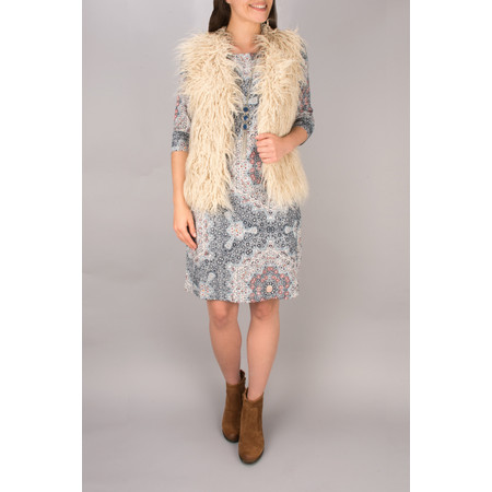 Sandwich Clothing Shaggy Faux Fur Gilet - Beige