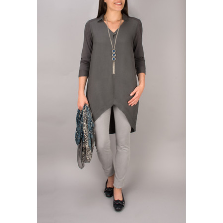 Sandwich Clothing Long Woven Blouse - Grey