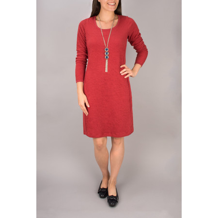 Sandwich Clothing Padded Look Jacquard Dress - Red