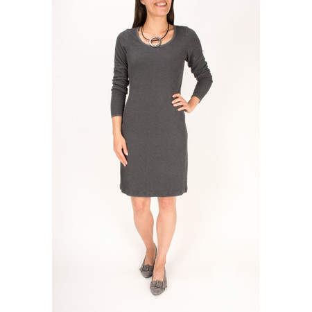 Sandwich Clothing Padded Look Jacquard Dress - Grey
