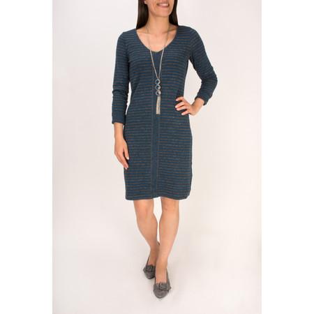 Sandwich Clothing Double Face Striped Jersey Dress - Blue
