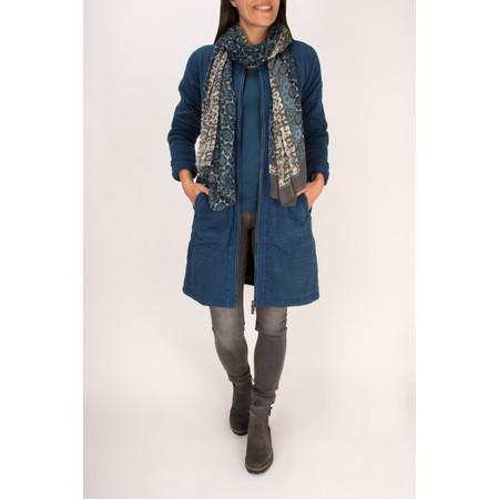 Sandwich Clothing Pigment Overdye Long Jacket - Blue