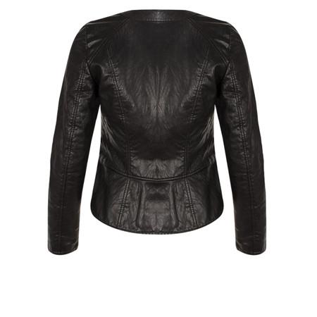 Great Plains Bronx Biker Faux Leather Jacket - Black