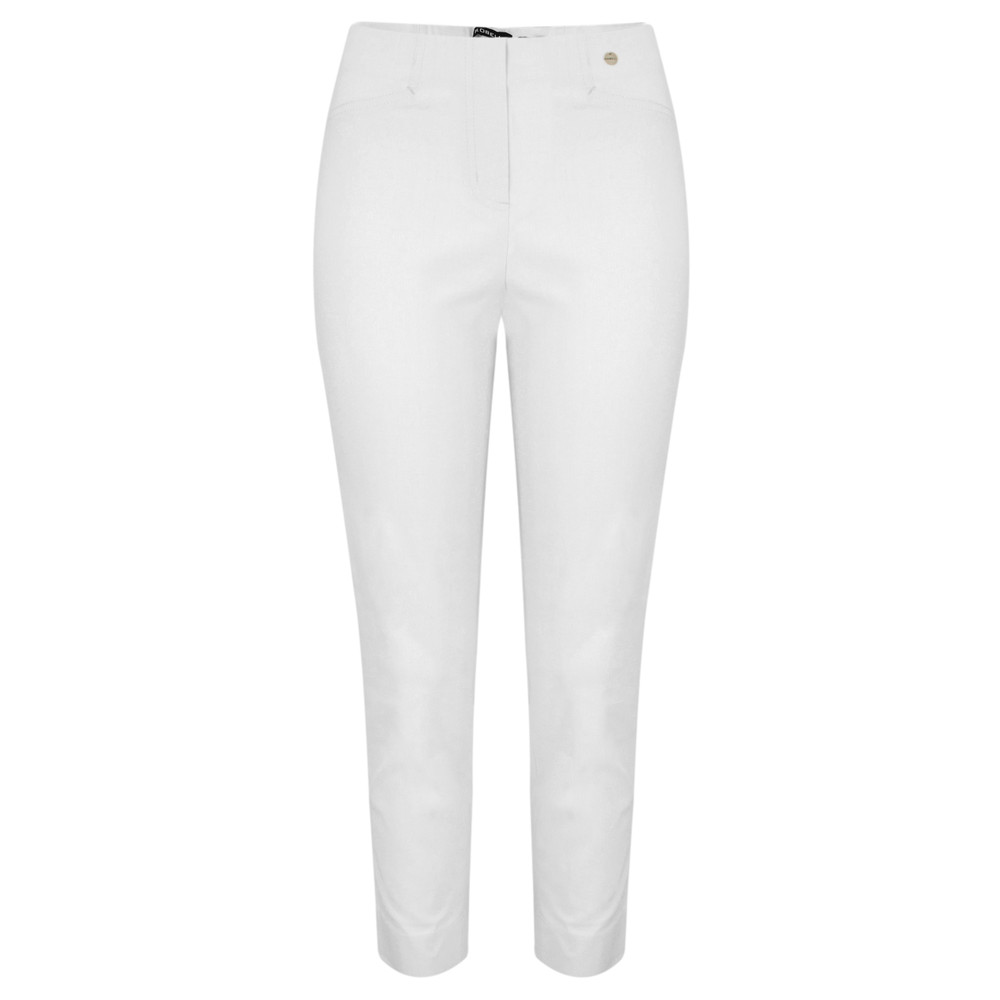 Robell Rose 09 White Ankle Crop Narrow Trouser White