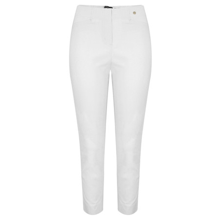 Robell Trousers Rose 7/8 Narrow Cropped Trouser - White